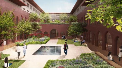 Final Humanities Courtyard
